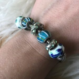 Brighton Blue Green Beaded Bracelet